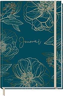 Trendstuff by Häfft Bullet Journal gestippelde A5 met elastiek, goudbloem, 156 pagina's, notitieboek gestippeld, dagboek v...