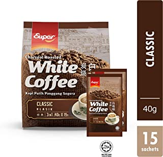Super 3 in 1 White Coffee, Charcoal Roasted, 15-Count