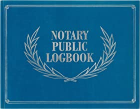 Notary Public Logbook (Notary Log Book, Notary Journal)