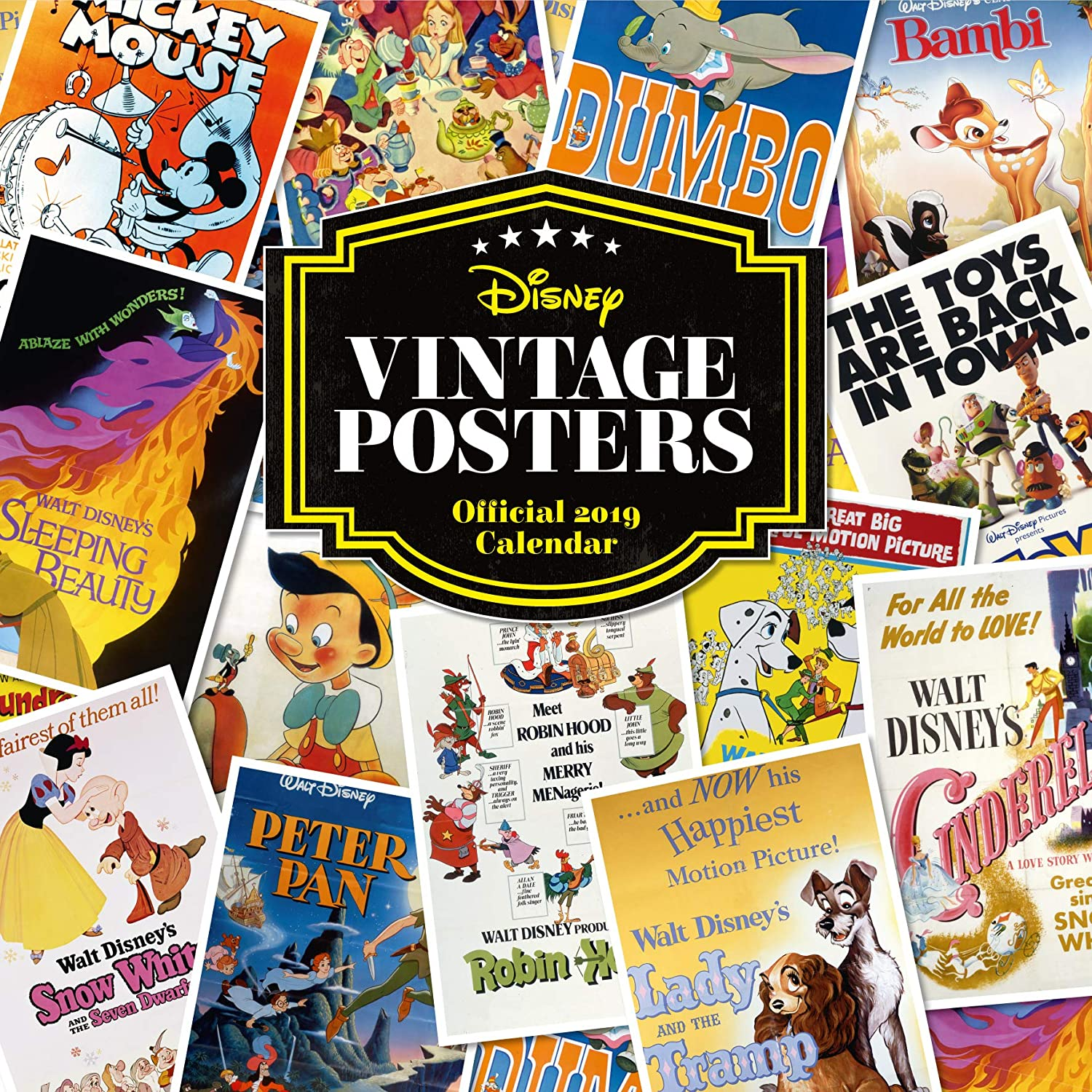 Disney Vintage Posters Official 2019 price Max 58% OFF Square - Calendar Wall
