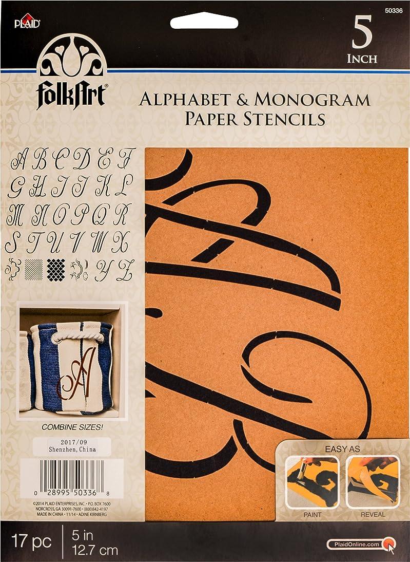 FolkArt 50336 Stencil Paper, Alphabet & Monogram Script 5