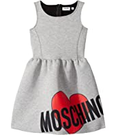 Moschino Kids - Sleeveless Neoprene Heart Logo Dress (Big Kids)