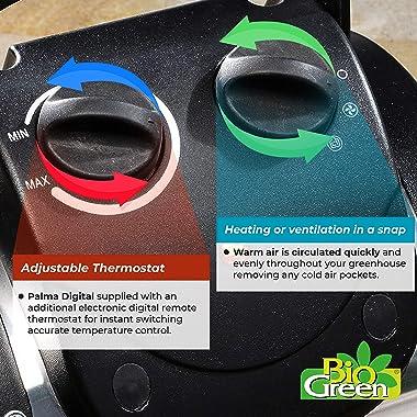 Bio Green PAL 2.0/USDT Palma Greenhouse Heater incl. Digital Thermosta