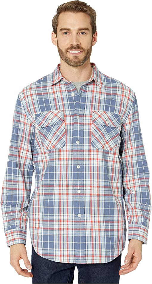 Blue/Red/Ivory Plaid