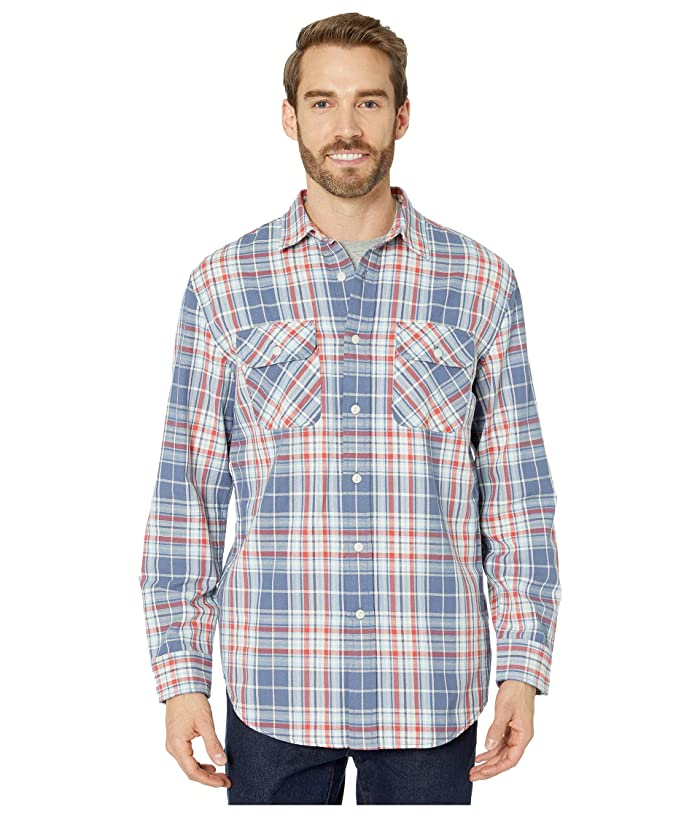 Vintage Mens Clothing | Retro Clothing for Men Pendleton Beach Shack Shirt BlueRedIvory Plaid Mens Clothing $46.74 AT vintagedancer.com