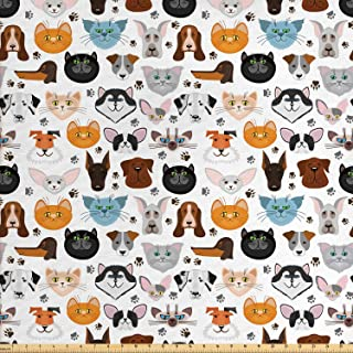 cat and dog fabric