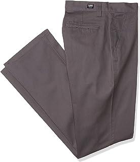 Lee Uniforms Men's Classic Fit College Pant Polo Shirt, Grey, 33