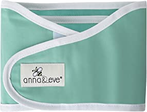 Anna & Eve - Baby Swaddle Strap, Adjustable Arms Only Wrap for Safe Sleeping - Aqua, Small