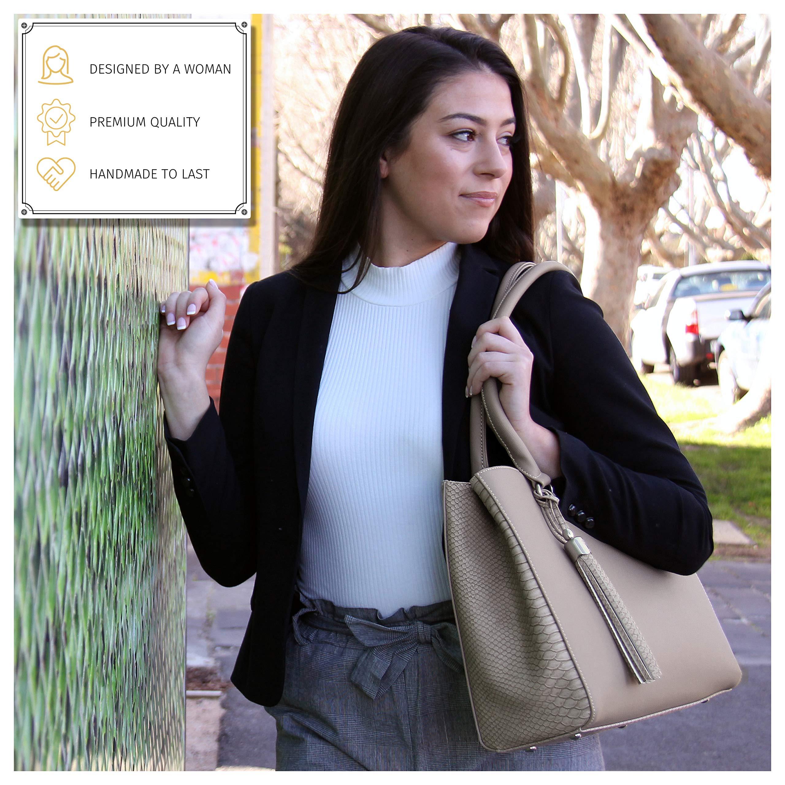 BFB Replacement Purse Handbag Laptop Bag Briefcase Messenger Travel Tote Handmade Shoulder Straps Make Your Bag Look with New Detachable Professional Designer Handles