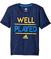 adidas Kids - Well Played Tee (Toddler/Little Kids)