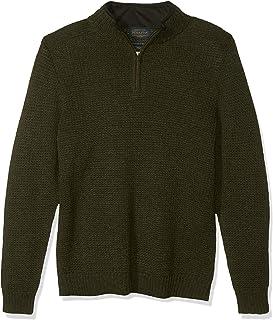 Men's Shetland Half Zip Cardigan Sweater