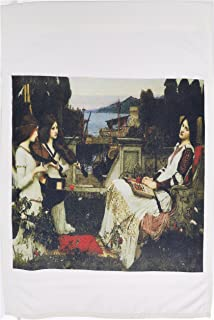"3dRose fl_127291_2""St. Cecilia by John William Waterhouse Garden Flag, 18 x 27"