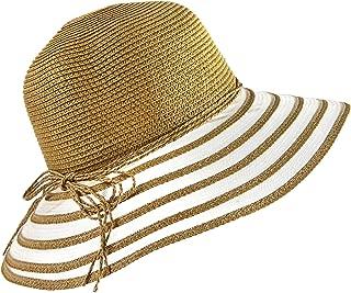 Wasolola Straw Hat for Women Ladies Wide Brim Sun Hat Summer Beach Sun Hat Foldable Adjustable SPF 50+