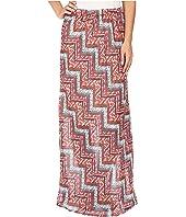 Roper - 0447 Floral Chevron Printed Georgette Skirt