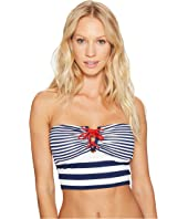 LAUREN Ralph Lauren - Modern Marine V-Wire Midkini Top w/ Removable Cups