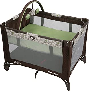 graco pack n play green and brown