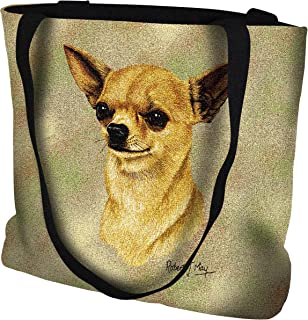 Pure Country Weavers Chihuahua 2 Hand Finished Large Woven Tote or Shoulder Bag with Magnetic Clasp 100% Cotton Double Sided Made in USA