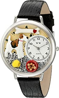 Whimsical Watches Unisex U0130039 Fox Terrier Black Skin Leather Watch
