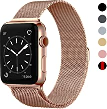 OSUVOX Compatible for IWatch Band, 38mm/40mm 42mm/44mm, Stainless Steel Loop Magnetic Band Compatible with Iwatch Series 5/4/3/2/1 (Rose Gold, 38mm/40mm)
