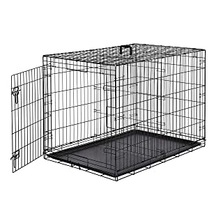 AmazonBasics Single-Door & Double-Door Folding Metal Dog...