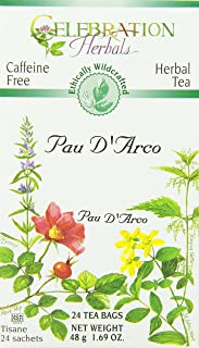 CELEBRATION HERBALS PAU D'arco Inner Bark Tea Wc 24 Bag, 0.02 Pound