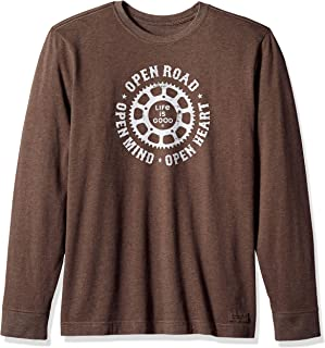 Life is Good Mens Graphic Long Sleeve T-Shirts Crusher Collection