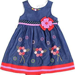 THE SILLY SISSY - Toddlers Girls Fall Circle Soft Cotton Dress (2-7/8)