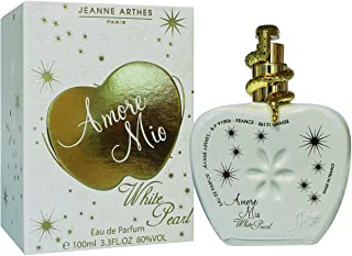 Jeanne Arthes Amore Mio White Pearl 100ml Mujeres - Eau de parfum (Mujeres 100 ml Envase no recargable Pimienta rosa F...