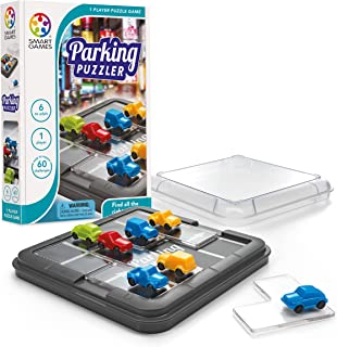 SmartGames Parking Puzzler Cognitive Skill-Building Travel Game with Portable Case featuring 60 Challenges for Ages 7 - Adult