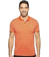 Lacoste Golf Fine Stripe Ultra Dry Pique Knit