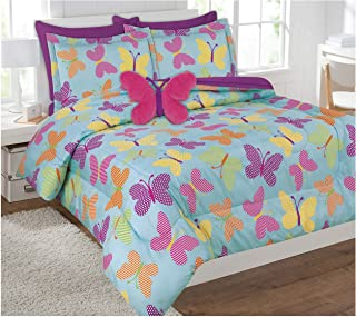 Goldenlinens Twin & Full 6 Pcs or 8 Pcs Comforter/Coverlet/Bed in Bag Set with Toy Twin