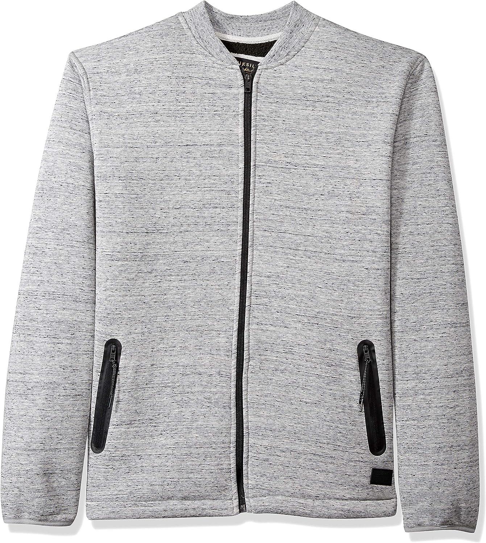 Quiksilver Mens Kurow Sherpa Bomber Jacket Sweatshirt