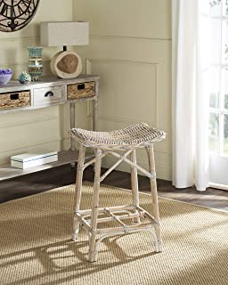 Safavieh Home Collection Rayna Natural Washed Wicker Barstool