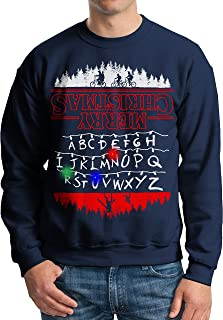 Vintage Fly Adult Light Up Stranger Things Ugly Christmas Sweater Christmas Lights Pullover Sweatshirt
