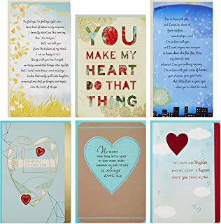 Hallmark Flirting/Dating/Love Assortment (6 Cards and 6 envelopes)