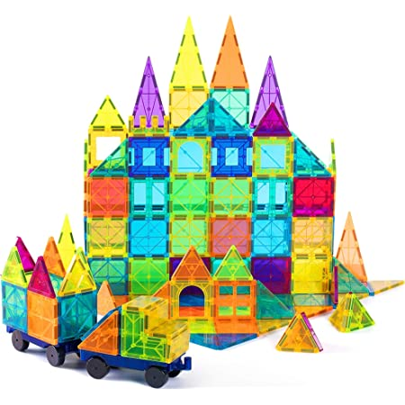 Cossy 72Pcs Magnetic Tiles,3D Magnet Building Block for 3 Year Old and Up Kids