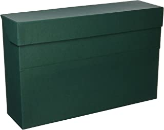 Elba 100580262 - Caja de transferencia de cartón forrado con tela, 10 cm, color verde