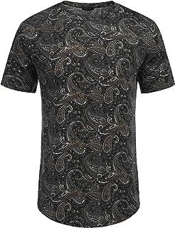cbacdfbe COOFANDY Men's Short Sleeve T Shirts Hippie Paisley Printed Tee