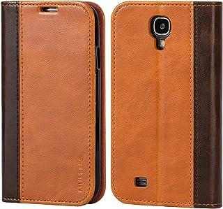 Mulbess Funda Samsung Galaxy S4 [Libro Caso Cubierta] Billetera Cuero de la PU Carcasa para Samsung Galaxy S4 Case, Marrón