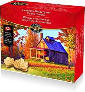 LB Canadian Maple Leaf Sugar Cream / Creme Snack Cookies Candy Treat 400Grams 14 Ounce