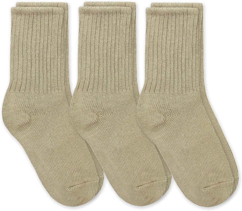 Jefferies Socks Boys' School Uniform Ribbed Crew Dress Socks 3 Pack