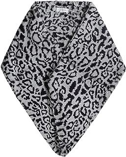 Rino and Pelle Women's Bellis Leopard Print Faux Fur Scarf Blue