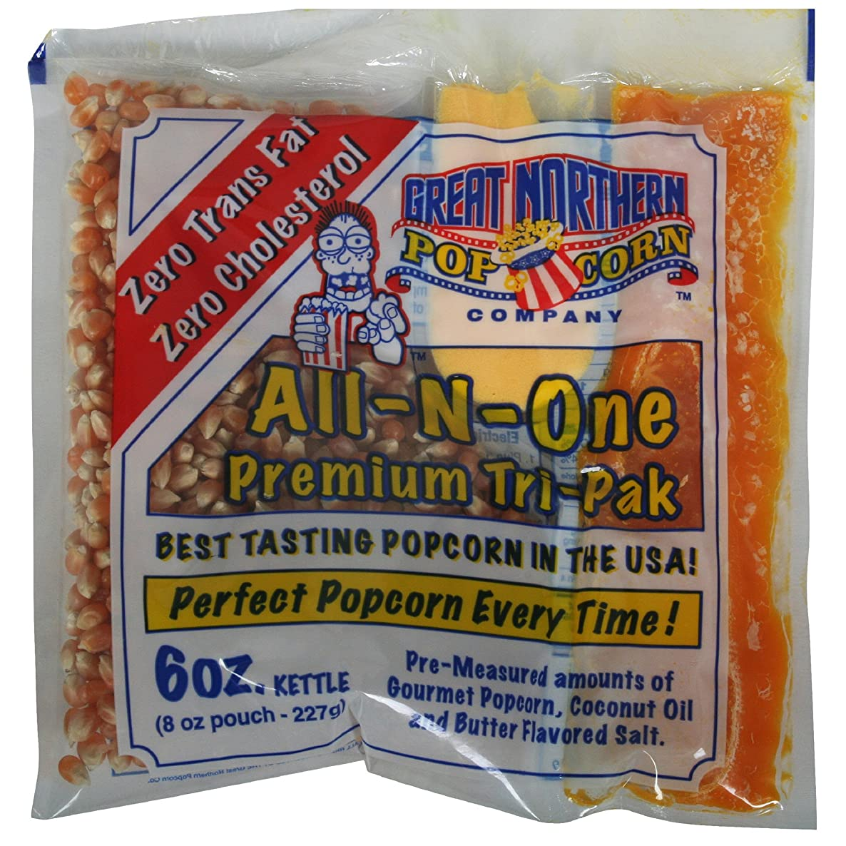 Great Northern Popcorn 1 Case (24) of 6 Ounce Premium Quality Popcorn Portion Packs Kit Cinema