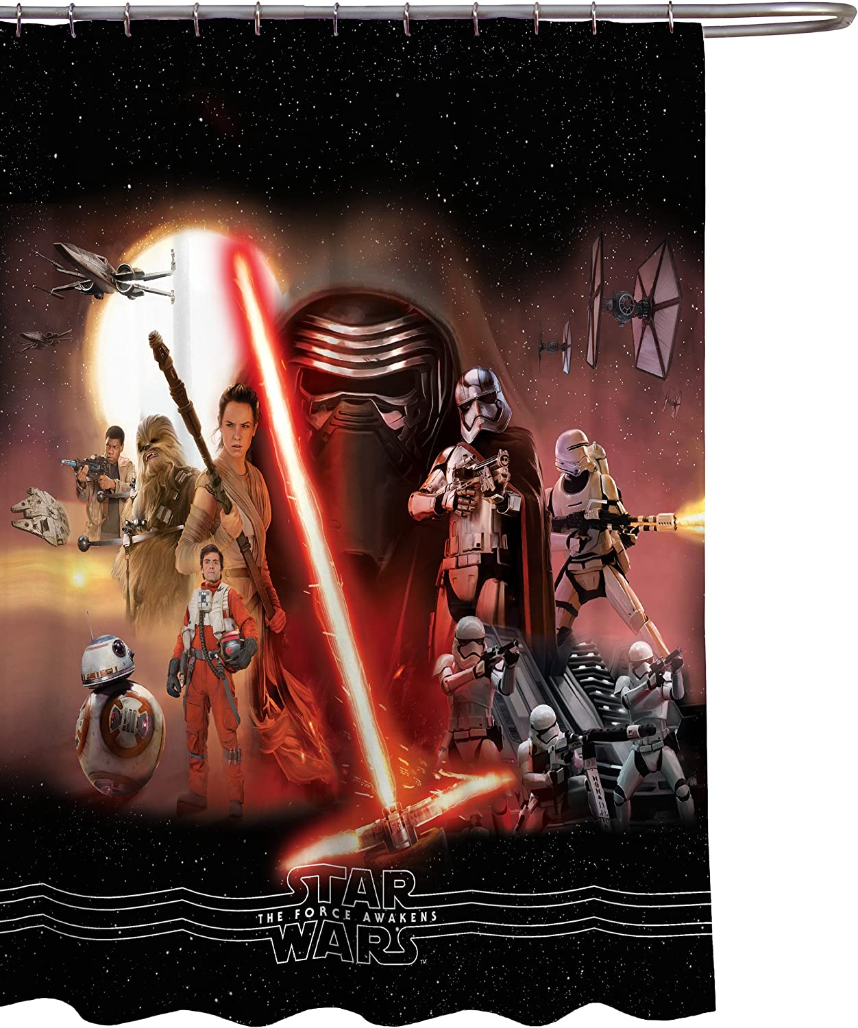 Jay Franco Star Wars Ep7 Poster x Curtain Fabric A surprise price is realized shop 72