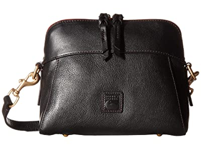 Dooney & Bourke Florentine Classic Cameron Crossbody (Black/Self Trim) Cross Body Handbags