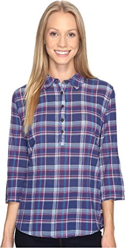 Oasis Plaid Popover Top
