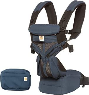 Ergobaby Omni 360 Baby Carrier Cool Air Mesh, Raven, Blue