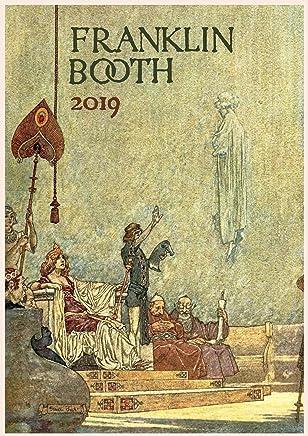 Pixiluv calendario da parete 2019[12pagine 20,3x 27,9cm] Flying Island of the Night illustrazioni vintage libro di Franklin Booth