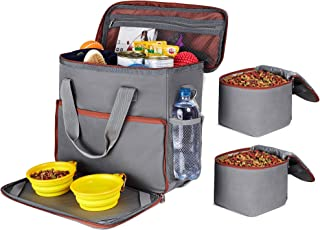 Dog Travel Bag - Dog Camping Supplies - Airline Approved Organizer for Pet Accessories Essentials Gear Food Puppy Diaper Grooming Kit - Dog Suitcase for Overnight and Week Long Trips