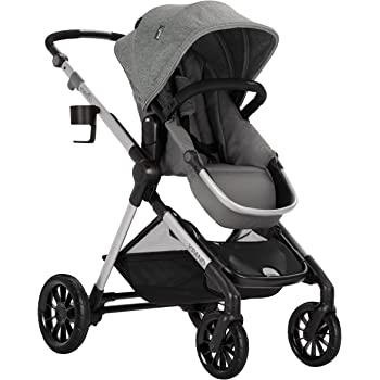 Evenflo Pivot Xpand, Modular Baby Stroller with Compact Folding design, Converts to Double Stroller (additional toddler seat not included), Percheron Gray